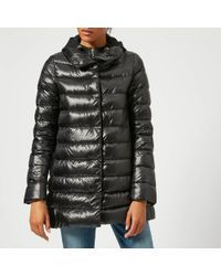 Herno - Long Coat With Inner Hooded Detail - Lyst