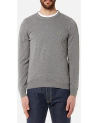 Lacoste - Men's Basic Crew Knitted Jumper - Lyst