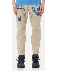 DSquared² - Hockney Fit Chinos With Patches - Lyst