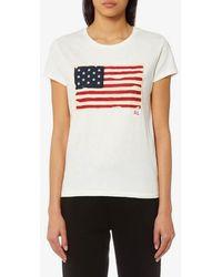 Polo Ralph Lauren - Women's Flag Tshirt - Lyst