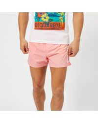 DSquared² - Men's Logo Swim Shorts - Lyst