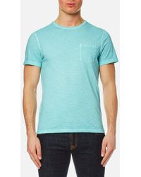 Michael Kors - Men's Melange Wash Crew Pocket Tshirt - Lyst