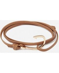 Miansai - Leather Bracelet With Rose Hook - Lyst