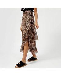 Ganni - Women's Tilden Mesh Skirt - Lyst