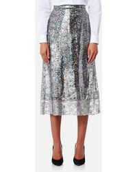 Christopher Kane - Women's Midi Foil Skirt - Lyst