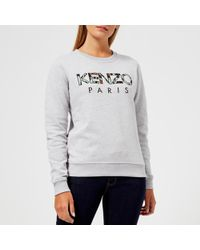 KENZO - Light Cotton Molleton Logo Sweatshirt - Lyst