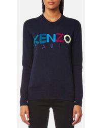 KENZO | Women's Paris Wool Knitted Jumper | Lyst