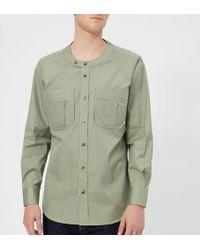 Vivienne Westwood - Men's Firm Poplin Military Low Neck Shirt - Lyst