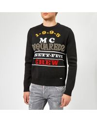 DSquared² - Logo Knitted Sweater - Lyst