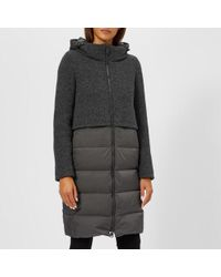 Herno - Women's Half Padded Half Wool Coat With Hood - Lyst