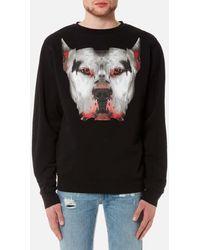 Marcelo Burlon | Men's Dogo Crewneck Sweatshirt | Lyst