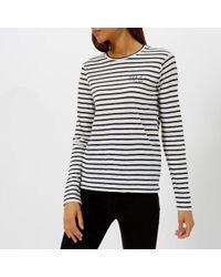 Polo Ralph Lauren - Women's Stripe Logo Long Sleeve Top - Lyst