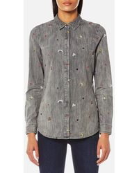 Maison Scotch - Women's Allover Embroidered Shirt - Lyst
