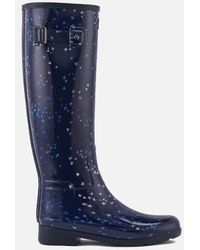 HUNTER - Women's Refined Constellation Print Tall Wellies - Lyst