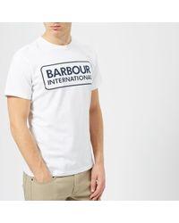 Barbour - International Men's Large Logo Tshirt - Lyst