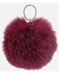 Furla - Women's Bubble Pom Pom Monocol Keyring - Lyst