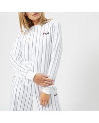 Fila - Women's Stretch Velour Pinstripe Sweater - Lyst