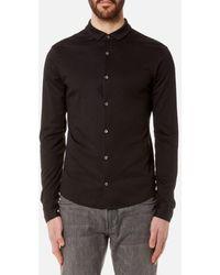 Emporio Armani - Men's Cotton Long Sleeve Shirt - Lyst