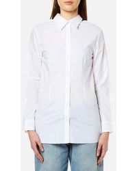 MM6 by Maison Martin Margiela - Women's Double Collared Button Back Shirt - Lyst