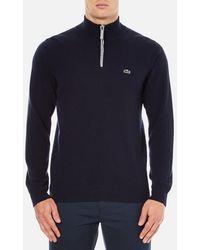 Lacoste - Half Zip Funnel Neck Sweatshirt - Lyst