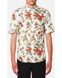 McQ - Men's Shields Short Sleeve Floral Shirt - Lyst