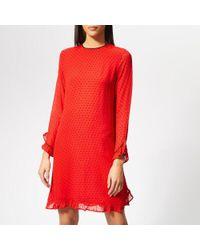 Ganni - Women's Mullin Georgette Dress - Lyst