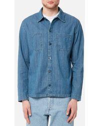 A.P.C. - Men's Surchemise Disfarmer Shirt - Lyst