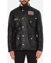 Barbour - Men's Union Jack International Coat - Lyst