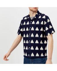 Universal Works | Men's Ikat Arrow Short Sleeve Camp Collar Shirt | Lyst