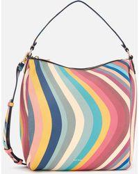 Paul Smith - 'spring Swirl' Print Leather Hobo Bag - Lyst