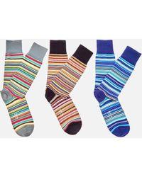 Paul Smith - 3 Pack Stripe Socks - Lyst