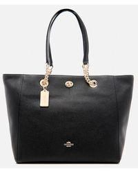 COACH - Women's Turnlock Chain Tote Bag - Lyst