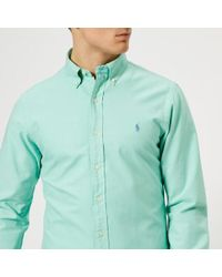 Polo Ralph Lauren - Men's Slim Fit Garment Dye Oxford Shirt - Lyst