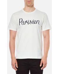 Maison Kitsuné - Men's Parisien Tshirt - Lyst