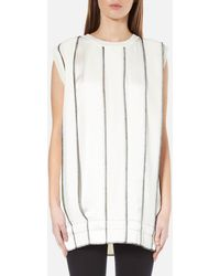 DKNY - Sleeveless Reversible Panelled Tunic With Drawcord And Exposed Label - Lyst
