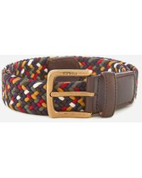Barbour - Men's Tartan Coloured Stretch Belt Gift Box - Lyst