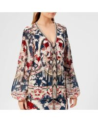 Camilla - Peasant Lace Blouse - Lyst