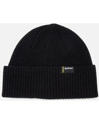 Barbour - Men's Beanie Hat Black - Lyst