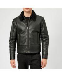 McQ - Shearling Biker Jacket - Lyst