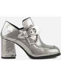 McQ - Women's Leah Mocassin Heeled Shoes - Lyst
