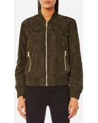 MICHAEL Michael Kors - Women's Light Weight Bomber Jacket - Lyst