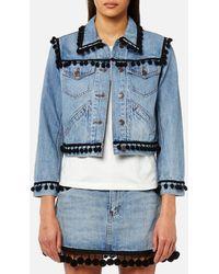 Marc Jacobs - Women's Shrunken Jacket With Pom Poms - Lyst