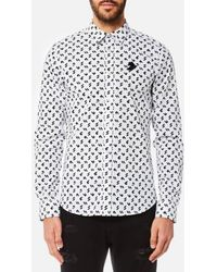 Versus - Men's Printed Long Sleeve Shirt - Lyst