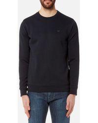 Emporio Armani - Men's Small Logo Crew Sweatshirt - Lyst