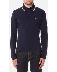 Vivienne Westwood - Men's Long Sleeve Pique Polo Shirt - Lyst