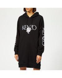 KENZO - Women's Logo Hooded Sweatshirt Dress - Lyst