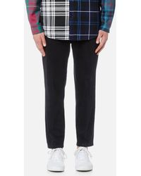Alexander Wang - Men's Black Denim Creased Cropped Trousers - Lyst