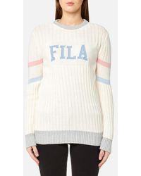 Fila - Blackline Women's Toni Textured Knit Crew Neck Jumper - Lyst
