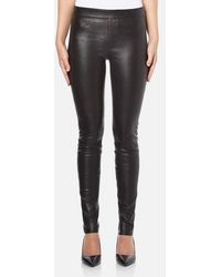 Helmut Lang - Women's Stretch Leather Trousers - Lyst