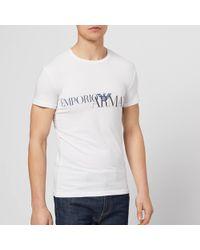 Emporio Armani - Script Logo T-shirt - Lyst